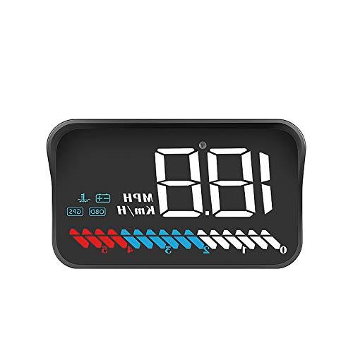 Not Application Pantalla Head Up Pantalla de medición de kilometraje Medidor de Alarma de Velocidad del Coche Monitor de Advertencia de Exceso de Velocidad