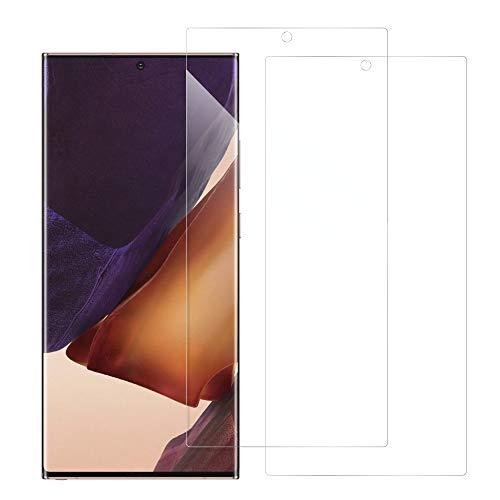 [2枚入り] LOOF Galaxy Note20 Ultra 5G SC-53A SCG06 用 保護フィルム 簡単貼り付け 画面保護 ソフトフィルム 気泡なし 傷防止 割れ防止 フィルム 耐衝撃 衝撃吸収 高感度 高透過率 保護シート [Galaxy Note20 Ultra 5G/クリア仕様]