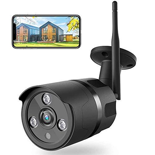 Netvue Cámaras de Vigilancia WiFi Exterior, Full HD 1080P Cámara Seguridad Compatible Alexa, Impermeable IP66, Ethernet y WiFi con Versión Nocturna Audio Bidireccional Detección de Humano Movimiento