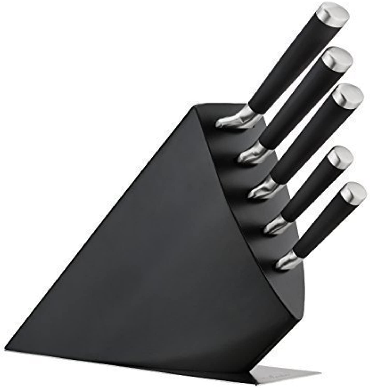 OLEIO Messerblock mit Messer set, Holzmesserblock, 5tlg Edelstahlmesser, OLEIO ELI Serie B00OA1S7NM