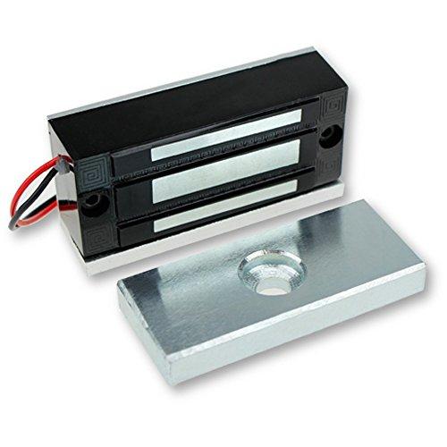 LIBO Serratura magnetica elettrica 60KG/130lbs Controllo accessi Serratura metallica in metallo DC12V Fail Safe NC Tipo per sistema di sicurezza Porta singola (L-60kg)