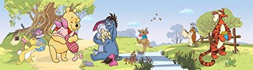 1art1 Winnie Puuh Der Bär - Winnie Pooh with Friends Bordüre Tapeten-Borte Selbstklebend 500 x 10 cm
