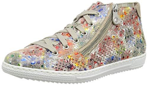 Rieker Damen Frühjahr/Sommer L9427 Slip On Sneaker, Mehrfarbig (Ginger-Multi/Nude/ 90 90), 41 EU