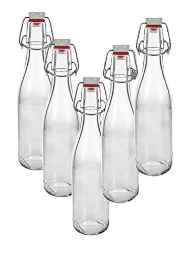 hocz 10er Set Bügelflaschen Bügelflasche Glasflaschen 330ml mit Bügelverschluss zum Selbstbefüllen Bügelflasche Smoothie