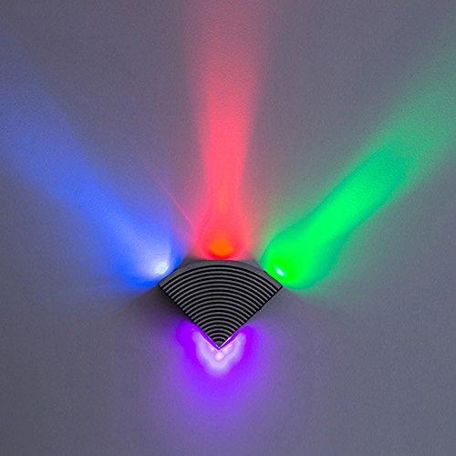 YU-K Moderne wandlamp LED Driehoekige Licht Roest Muur Lampen voor Outdoor Patio Tuin Hek, Waterdichte LED Kleur Licht