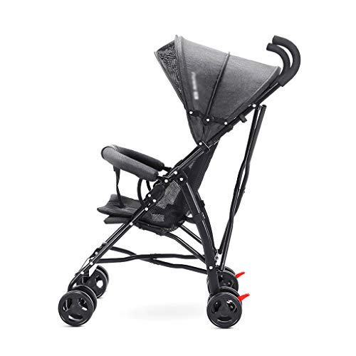 Best Deals! ZZHJ Toddlers Strollers Four Rounds fold Baby Pushchairs Suitable for 0-4 Years Old