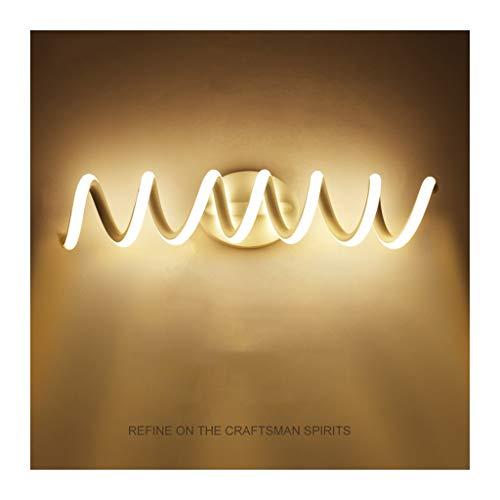 WYZ. ED spiegel voorlicht WC anti-mist spiraal badkamerspiegel kamerspiegel licht effectieve, moderne met Light Source make-up spiegel voorlamp [energieklasse A +] (kleur: wit licht)