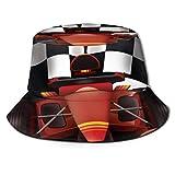 XCNGG Sombrero de Pescador Protector Solar para Acampar al Aire Libre Gorra de Viaje Transpirable Plegable - Coche de Carreras