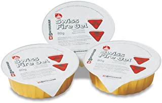Swissmar Swiss Fire Gel 3 Ounce Fondue Fuel Tin, Set of 6