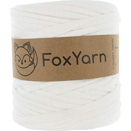 T-Shirt Yarn Cotton Fettuccini Zpagetti Highest Quality ~ 1.4 lbs (700g) and 140 Yard Long (~120 Meter) Sewing Knitting Crochet T Shirt Yarn (White)