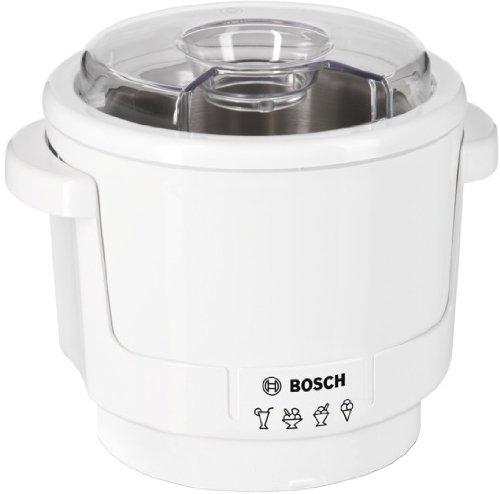 Crea deliciosos helados gracias a este versátil y elegante accesorio heladera para los robots de cocina MUM5 de Bosch Permite preparar hasta 550 gramos de helado, por lo que es un accesorio adecuado para preparar helados para toda la familia Incluye ...