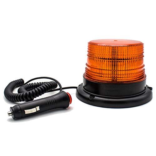 LED Rundumleuchte Auto Signal LED Warnleuchte Mit 12v Zigarettenanzünder Stecker Kennzeichenbeleuchtung mit Super Magnetfuß Blitzleuchte in Gelb