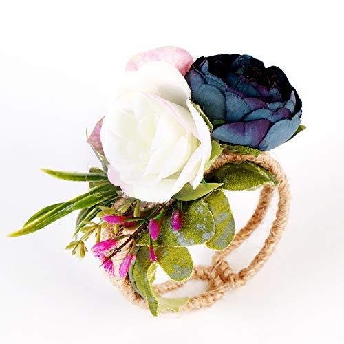 Wankd Handkorsage voor bruidsmeisjes, creatieve bruidsmeisjesarmband, bruiloft, bruid, pols, corsage Woodland corsage geweven stro, armband voor bruiloft, gala, accessoires handbloemen