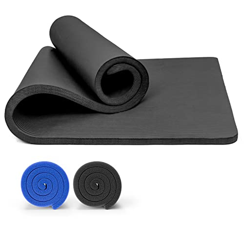 PROIRON Gymnastikmatte Extra Dick 15mm, Yogamatte Phthalatfrei, Pilatesmatte rutschfest Fitnessmatte mit Tragegurt, 1800 x 610 x 15mm, Sportmatte für Yoga Pilates Gymnastik Trainingsmatte