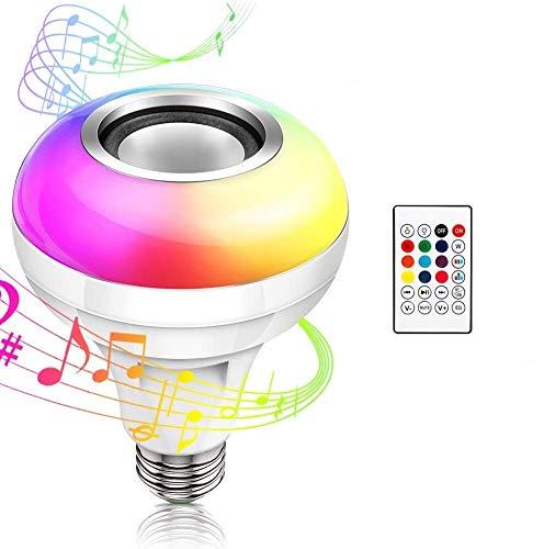 Haofy LED音楽電球 LED電球スピーカー スマートLEDライトスピーカー Bluetooth4.2 音楽再生 調光調色リモコン付き 省エネ 電気代 節約 屋内エンターテインメント照明電球 ワイヤレス E26/27口金 USBスロットと日本語説明書付き