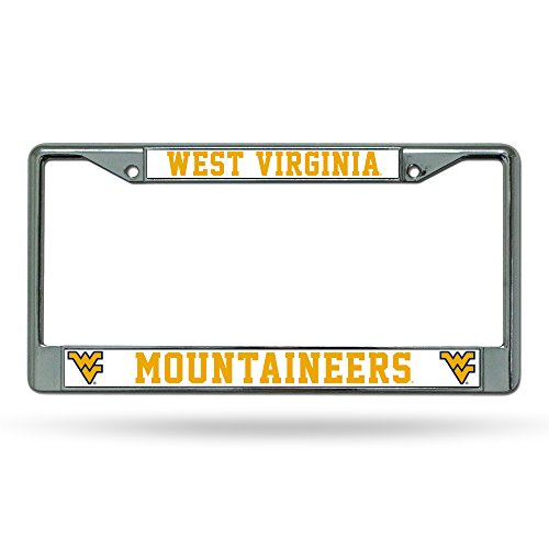 NCAA West Virginia Mountaineers Standard Chrome License Plate Frame