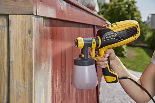 WAGNER Pistolet à peinture W 590 FLEXiO pour les peintures murales à base d'eau et solvants, laques et lasures, pour l'intérieur et l'extérieur, 15 m²-6 min, réservoir de 1300 ml/800 ml, 630 W