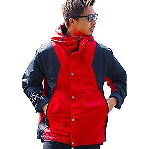 """(キャバリア)CavariA メンズ マウンテンパーカー ブルゾン ジャンパー タスラン 防水""""CATN19-15"""" 48(XL) RED(レッド)【+】"""
