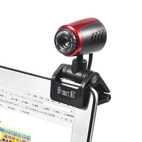 iFCOW - Webcam de 16 megapíxeles, USB 2.0, cámara Web con micrófono para Ordenador, portátil, PC de sobremesa miniatura
