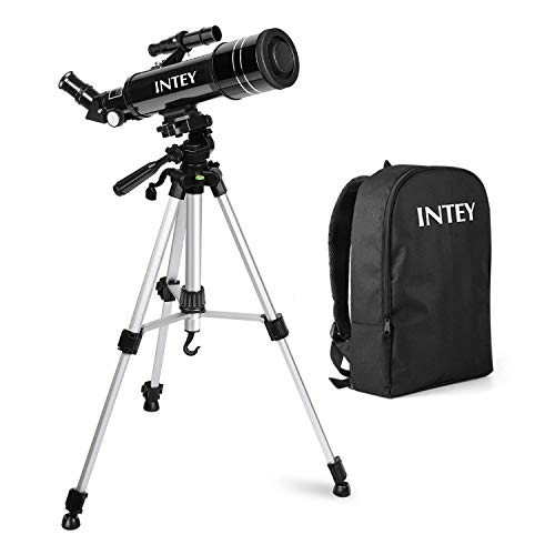 INTEY Tlescope Astronomique -F40070M, Tlscope avec Oculaire K25 mm et K6 mm, Tlescope de Rfraction Trpied Rglable en Aluminium (50 ~ 120cm), avec Sac Dos, pour Dbutants/Amateurs
