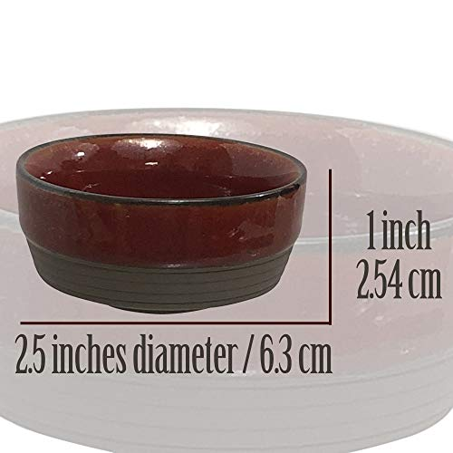 AllAsta Fire Glazed Spice Dishes Dip Bowl Soy Sauce Dish Small Cups Condiments Dipping Bowls Set of 4