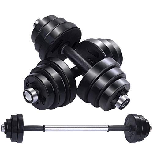 Mancuerna de entrenamiento con asas de goma pesadas para entrenamiento de fuerza, equipo de gimnasio, acero, 20 kg, par/individual, 10 kg de entrenamiento