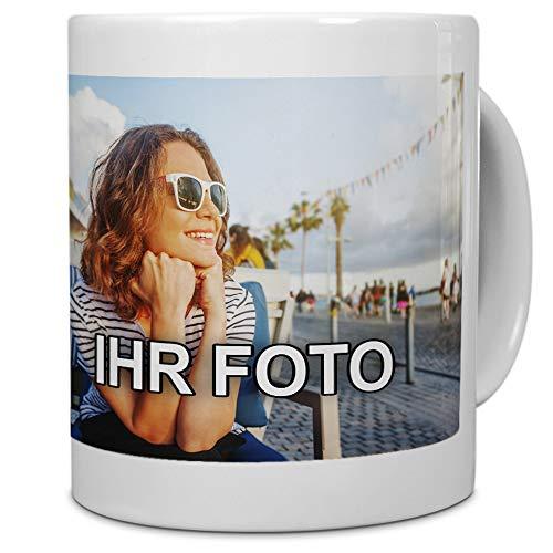 printplanet® - Tasse mit Foto Bedrucken Lassen - Fototasse Personalisieren - Kaffeebecher zum selbst gestalten - 325 ml - Farbe Weiß