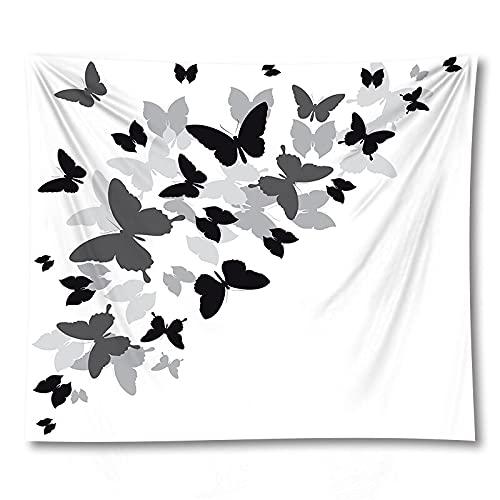 PPOU 3D Farfalla succulente arazzo Yoga Mat parete Home Decor sfondo panno arazzo coperta a7 150x200 cm