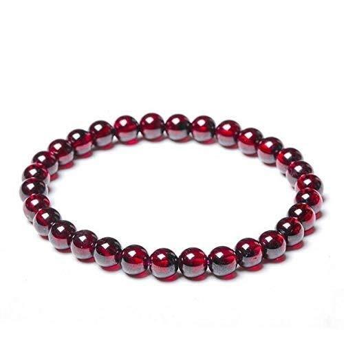 ketting 2020 100% Natuurlijke Wijn Rode Granaat Vrouwen Beste Gift Kralen Link Ketting Armband 6MM