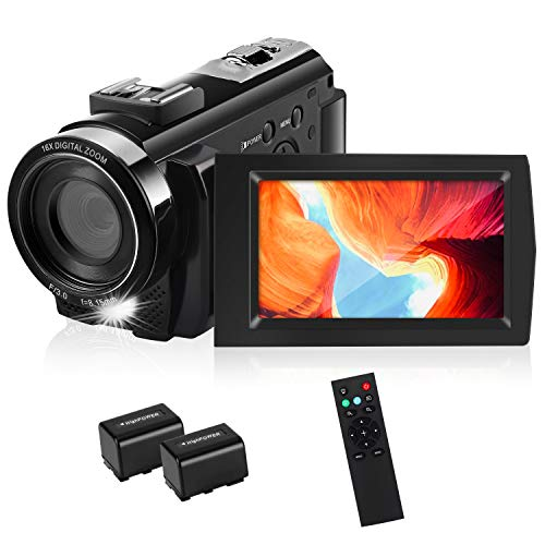 HD Video Camera, toberto Camcorder Video Cameras Full HD 1080P Digital Camera 15FPS 24.0 MP Vlogging...
