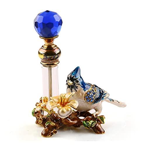 Botella de spray de 4 ml de metal vintage para pájaros, botella de perfume vacía, decoración de regalo para mujer (color: A)