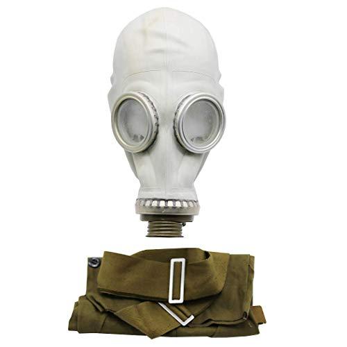 OldShop Gasmaske GP5 Set - Sowjetische Militär Gasmaske Replica Sammlerstück Set W/ Maske, Tasche- authentischer Look & Verschiedene Größen erhältlich (L, Grau)