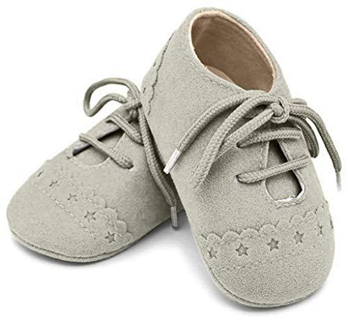 FeiliandaJJ Baby Mädchen Jungen Lace Up Sneakers Soft Soled Anti-Rutsch Kleinkind Schuhe (12-18 Monate, Grau)