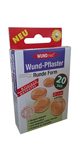 Wund-Pflaster 20e ronde vorm huidskleur