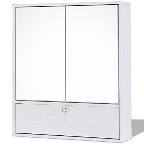 choice Bathroom Double Mirror Door Wall Mount Storage Wood Cabinet Product
