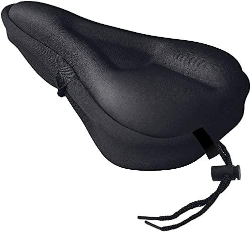 MMOBIEL Funda Impermeable de sillín de Bicicleta rellena de Gel. Protección Ajustable para Hombres, Mujeres y niños. 28 x 19 cm / 11 x 10 Pulgadas - Negro