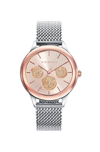 Viceroy Damen Multi Zifferblatt Quarz Smart Watch Armbanduhr mit Edelstahl Armband 401036-97