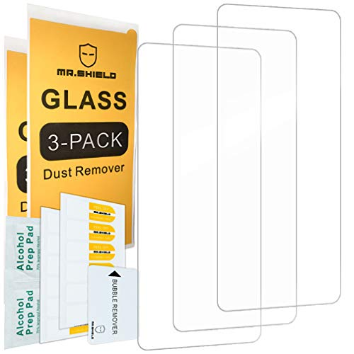 [3-Pack]-Mr.Shield for OnePlus 8T [270μ Glue Version] [Japan Glass with 9H Hardness] [Tempered Glass] Screen Protector with Lifetime Replacement