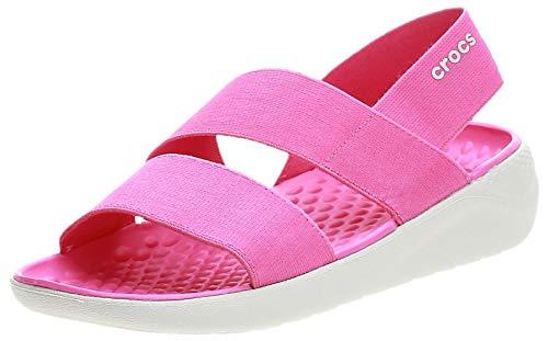 [クロックス] ライトライド ストレッチ サンダル ウィメン 206081 Electric Pink/Almost White 22 cm