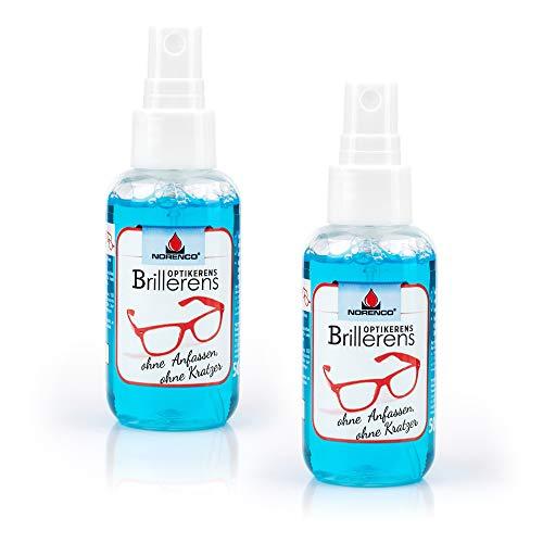 XS PROTECT Kontaktloses Reinigungsspray 2er Set für Brille, Sonnenbrille,Schwimmbrille, Lupe, Brillengläser - Ohne Alkohol, Geruchlos & Antiallergisch-Brillenreiniger,Brillenspray (2 x 50ml)