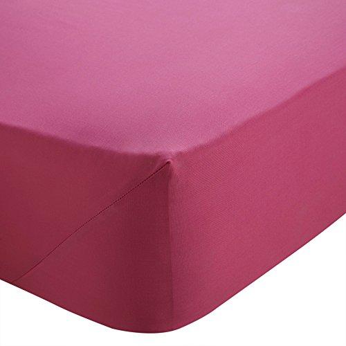 SASA CRAZE Bedding Extra Deep 16'/40cm Fitted Sheet (Single, Hot Pink)