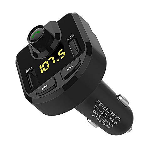 HomeMals Car Bluetooth MP3 Car Radio Wireless Adapter USB Charger Mp3 Player Car Audio Receiver Car Electronics Black