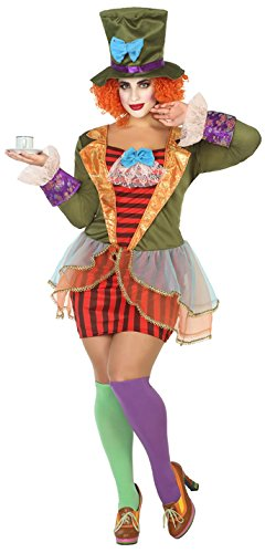 ATOSA 38658 Hutmacherin Kostüm, Damen, mehrfarbig, XL