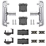 Upgraded Dishwasher Metal Upper Rack Adjuster Kit W10712394 Compatible with Whirlpool Ken-more Dishwasher Replaces W10350376 AP5956100 PS10064063 W10238418 W10253546 by Sikawai