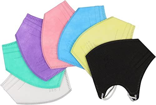 Frentree 20x Bunte Mini FFP2 Masken in kleiner Größe, CE zertifiziert und einzeln verpackt, mit weichen Ohrschlaufen und Nasenbügel