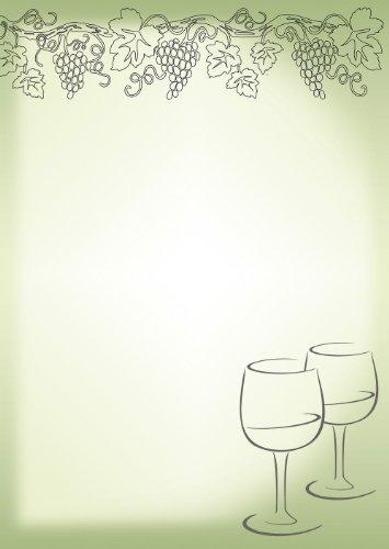 Briefpapier Wein/Weingläser 50 Blatt Motivpapier DIN A4 90 g/m² 5172