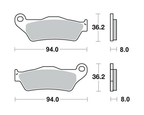 Plaquettes de frein TRW MCB648SRM pour KTM EXC 520 Racing KTM-4T-EXC 00-02 (avant)