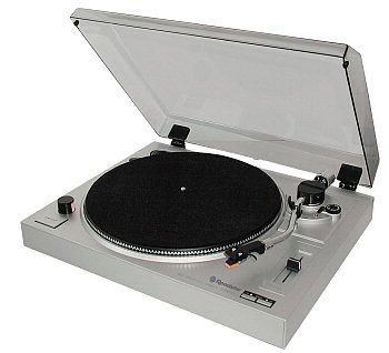 Roadstar TTL 8743 DJ Manueller Plattenspieler Silber