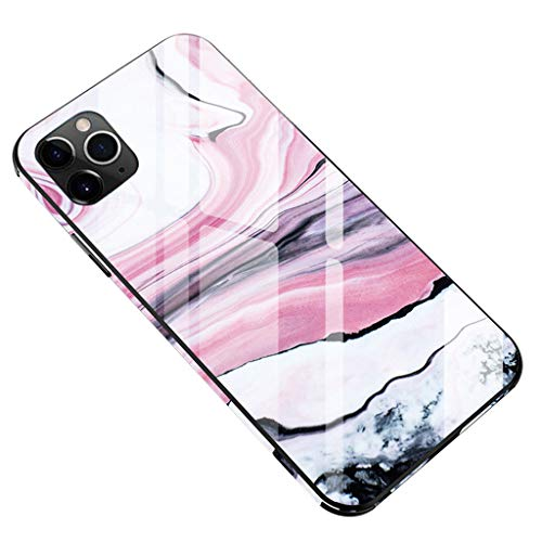 ErYao for iPhone 11 Pro 5.8inch Ultra Thin and Lightweight Tempered Glass Phone Case Cover TPU Hard Cases, One- Click Install Case for 11 Pro 5.8inch (B)