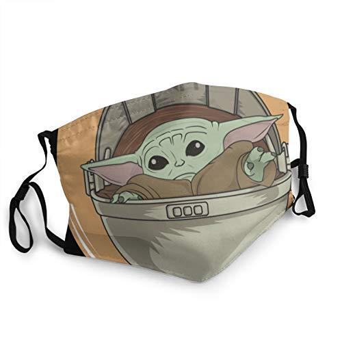 Unisex Baby Y-Oda Gesichts- und Mundschutz für Erwachsene, Staubmaske, Halstuch, Sturmhaube, Taschentuch für Staub, Wind, Sonnenschutz, schwarz